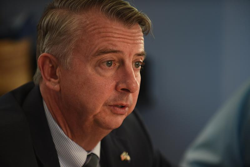 An ad from Virginia GOP gubernatorial candidate Ed Gillespie accuses Democrats in the state of jeopardizing public safety by restoring voting rights to former felons. (Astrid Riecken/The Washington Post via Getty Images)