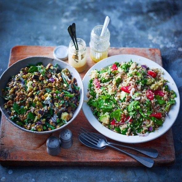 """<p>With roasted vegetables and goat's cheese this is a winning salad.</p><p><strong>Recipe: <a href=""""https://www.goodhousekeeping.com/uk/food/recipes/a559982/roasted-freekeh-salad/"""" rel=""""nofollow noopener"""" target=""""_blank"""" data-ylk=""""slk:Roasted Freekeh Salad"""" class=""""link rapid-noclick-resp"""">Roasted Freekeh Salad</a></strong></p>"""