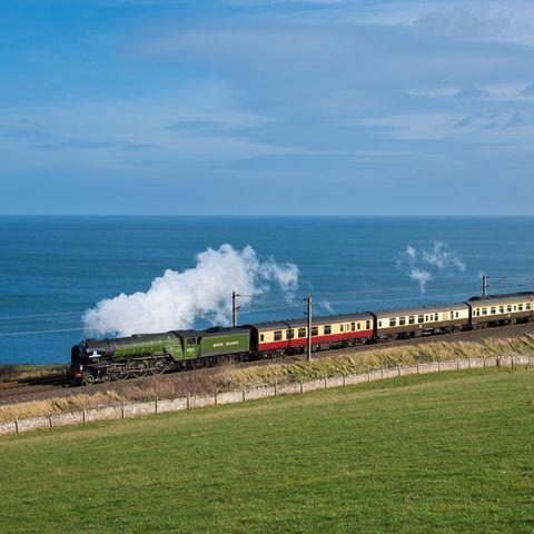 """<p>This is a special one, where you can take in two of Scotland's most exciting cities - Edinburgh and Aberdeen - on a nostalgic day trip on the world-famous steam locomotive Tornado.</p><p>Large windows offer unrivalled views of the scenery and fine Scottish fare graces the menu. </p><p>A highlight of the journey will undoubtedly be crossing the remarkable Forth Bridge. Connecting Edinburgh with Fife, this structure has the second-longest single cantilever span of any bridge in the world - awarding it its status as a UNESCO World Heritage site.</p><p>The Aberdonian then runs along the coast as you weave through lush landscapes and verdant countryside with clifftop views.</p><p>In Aberdeen you can explore the historic city and its stunning castle, or visit the distilleries, and Edinburgh needs no introduction. </p><p><a class=""""link rapid-noclick-resp"""" href=""""https://www.goodhousekeepingholidays.com/search?locations%5Bsearch%5D=Edinburgh%2C+UK&locations%5Bgeo%5D=55.890423%2C-3.333019%2C55.991994%2C-3.077659&type%5B%5D=period-property&type%5B%5D=boutique-hotel&type%5B%5D=spa-hotel&type%5B%5D=gourmet-escapes&type%5B%5D=family-friendly&type%5B%5D=city-hotel&type%5B%5D=luxury-hotel&type%5B%5D=designer-hotel"""" rel=""""nofollow noopener"""" target=""""_blank"""" data-ylk=""""slk:BROWSE OUR FAVOURITE PLACES TO STAY IN EDINBURGH"""">BROWSE OUR FAVOURITE PLACES TO STAY IN EDINBURGH</a></p><p><a href=""""https://www.instagram.com/p/CPtKFDxnImz/"""" rel=""""nofollow noopener"""" target=""""_blank"""" data-ylk=""""slk:See the original post on Instagram"""" class=""""link rapid-noclick-resp"""">See the original post on Instagram</a></p>"""