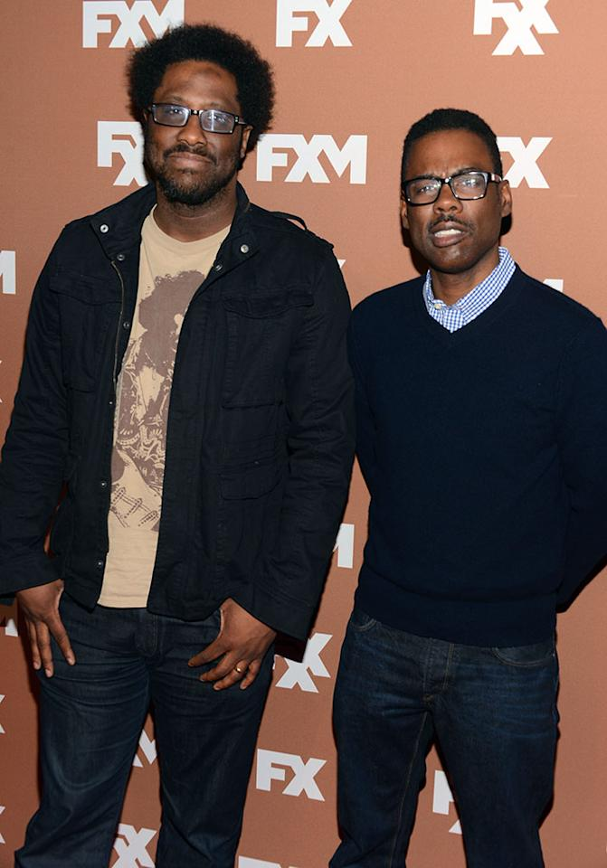 W. Kamau Bell and Chris Rock attend the 2013 FX Upfront Bowling Event at Luxe at Lucky Strike Lanes on March 28, 2013 in New York City.