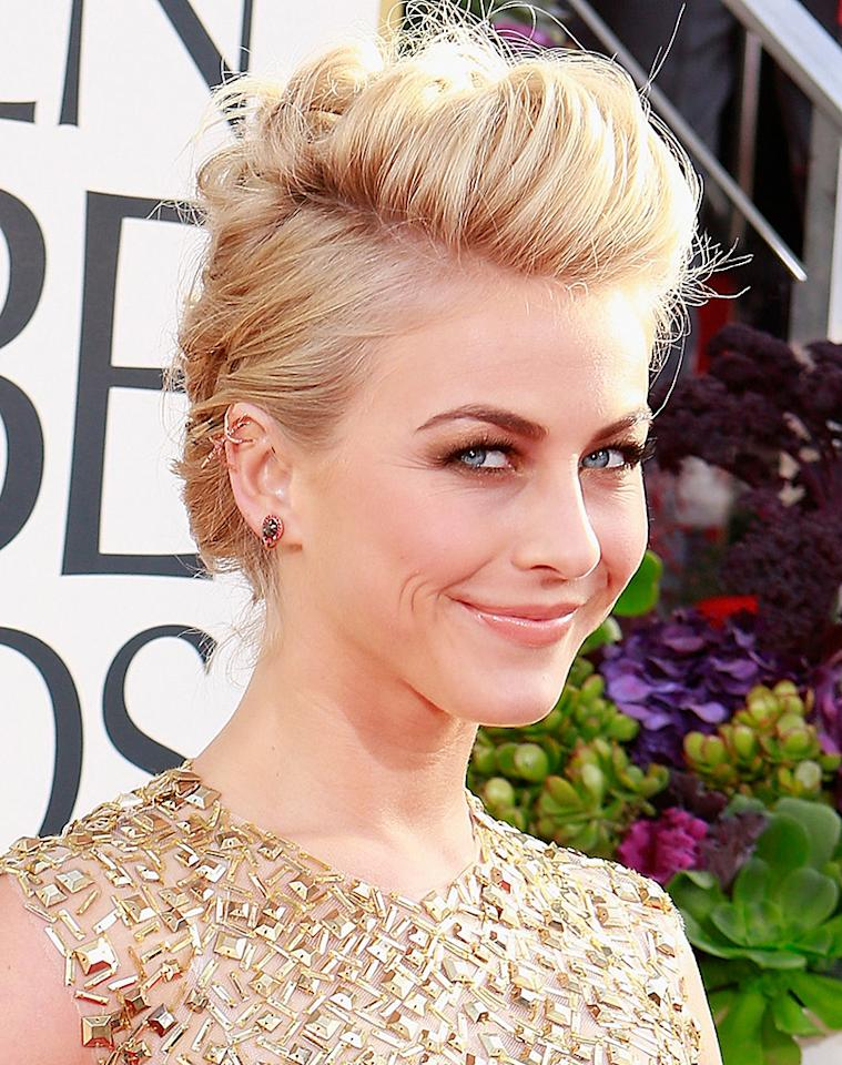 Julianne Hough arrives at the 70th Annual Golden Globe Awards at the Beverly Hilton in Beverly Hills, CA on January 13, 2013.