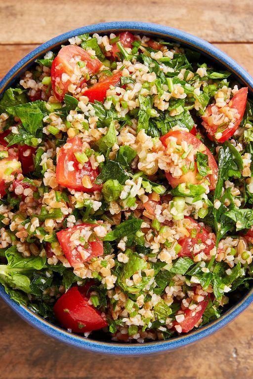 """<p>This Lebanese (or Syrian, depending who you ask 😉) salad is sure to improve whatever it's paired with. Bright, fresh herbs get friendly with sweet tomatoes and a sharp lemon dressing to create the salad equivalent of a breath of fresh air.</p><p>Get the <a href=""""http://www.delish.com/uk/cooking/recipes/a29843514/classic-tabouli-salad/"""" rel=""""nofollow noopener"""" target=""""_blank"""" data-ylk=""""slk:Tabbouleh Salad"""" class=""""link rapid-noclick-resp"""">Tabbouleh Salad</a> recipe.</p>"""