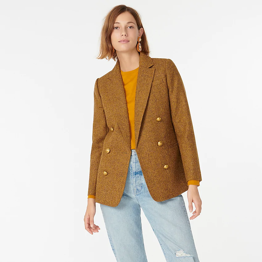 "<br><br><strong>J.Crew</strong> Double-Breasted Blazer, $, available at <a href=""https://go.skimresources.com/?id=30283X879131&url=https%3A%2F%2Ffave.co%2F2TqVvRg"" rel=""nofollow noopener"" target=""_blank"" data-ylk=""slk:J.Crew"" class=""link rapid-noclick-resp"">J.Crew</a>"