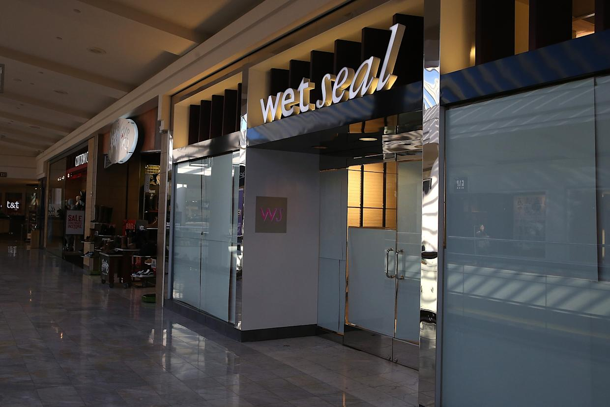 SAN FRANCISCO, CA - JANUARY 07:  Paper covers the windows at a closed Wet Seal store on January 7, 2015 in San Francisco, California. Wet Seal, a teen clothing retailer, announced that it has closed 338 of its retail stores and will lay off nearly 3,700 employees.  (Photo by Justin Sullivan/Getty Images)