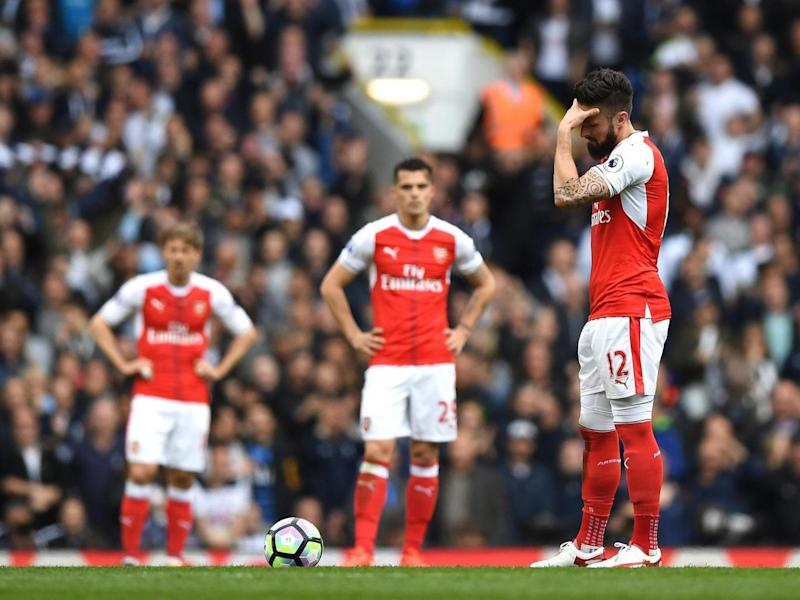 Arsenal were comfortably be(Getty)