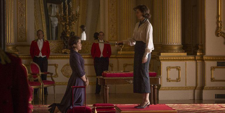 """<p>""""We always try to get this feeling that these people are living in this huge, vast space, in particular when you get to Buckingham Palace,"""" executive producer Stephen Daldry told <a href=""""http://www.indiewire.com/2017/08/netflix-the-crown-production-design-emmy-stephen-daldry-martin-childs-1201867229/"""" rel=""""nofollow noopener"""" target=""""_blank"""" data-ylk=""""slk:IndieWire"""" class=""""link rapid-noclick-resp""""><em>IndieWire</em></a>. """"It's a gilded cage in lots of ways, so you want to always get this sense of a huge, unfriendly place that they are rattling around in.""""</p>"""
