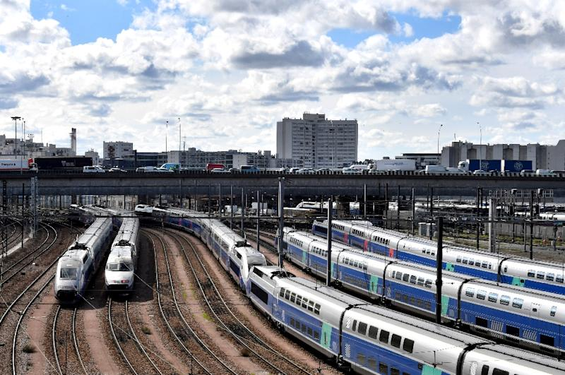 SNCF said the fourth instalment of the rail strikes would heavily disrupt services on Wednesday and Thursday, with just one in three high-speed TGVs running (AFP Photo/GERARD JULIEN)