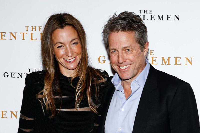Actor Hugh Grant and his wife Anna Elisabet Eberstein married last year: REUTERS