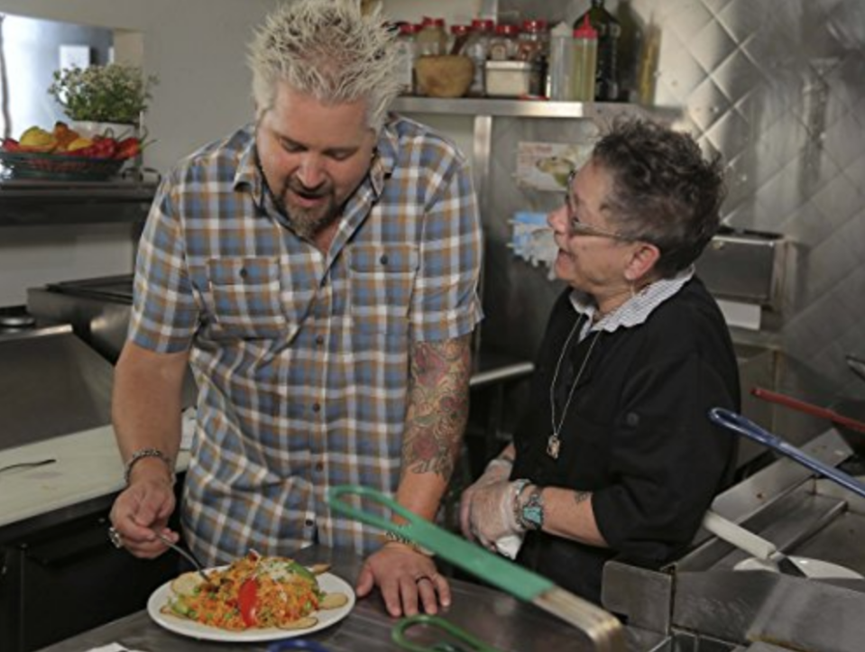 "<p>One of the things that <em>really</em> piques production's interest is the story behind an establishment. From restaurants that have been passed down through generations to a unique passion project, <a href=""https://www.thrillist.com/eat/nation/guy-fieri-diners-drive-ins-and-dives-interview"" rel=""nofollow noopener"" target=""_blank"" data-ylk=""slk:those kinds of stories"" class=""link rapid-noclick-resp"">those kinds of stories</a> are Triple D's bread and butter.</p>"