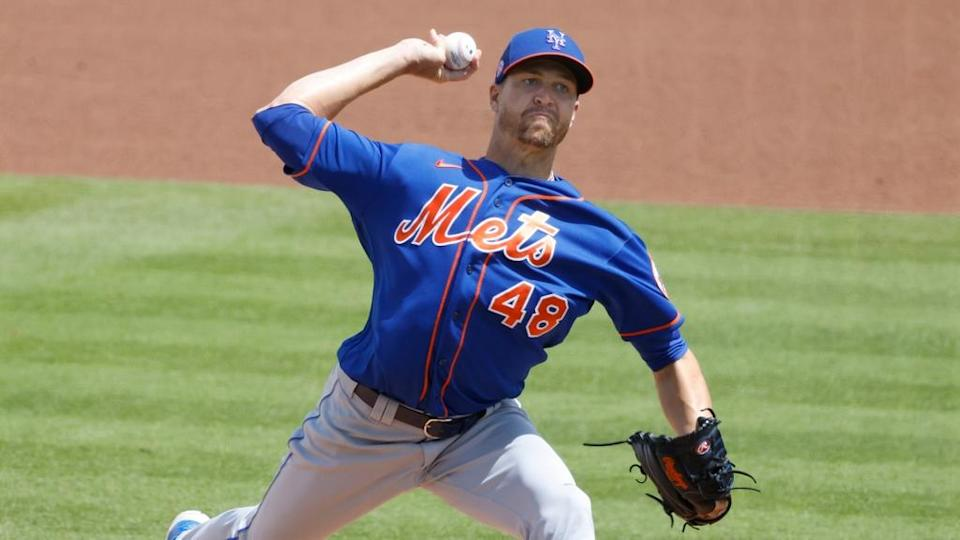 Jacob deGrom pitches vs. Nats on March 21