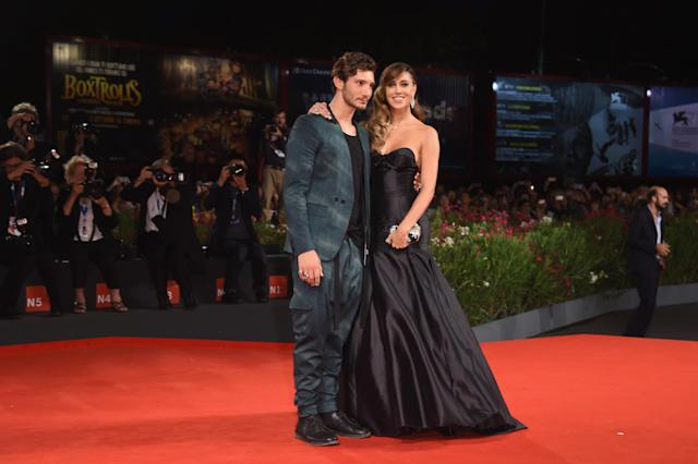 VENICE, ITALY - SEPTEMBER 04: Belen Rodriguez and Stefano De Martino attend 'Pasolini' Premiere during the 71st Venice Film Festival at Sala Grande on September 4, 2014 in Venice, Italy. (Photo by Venturelli/WireImage)