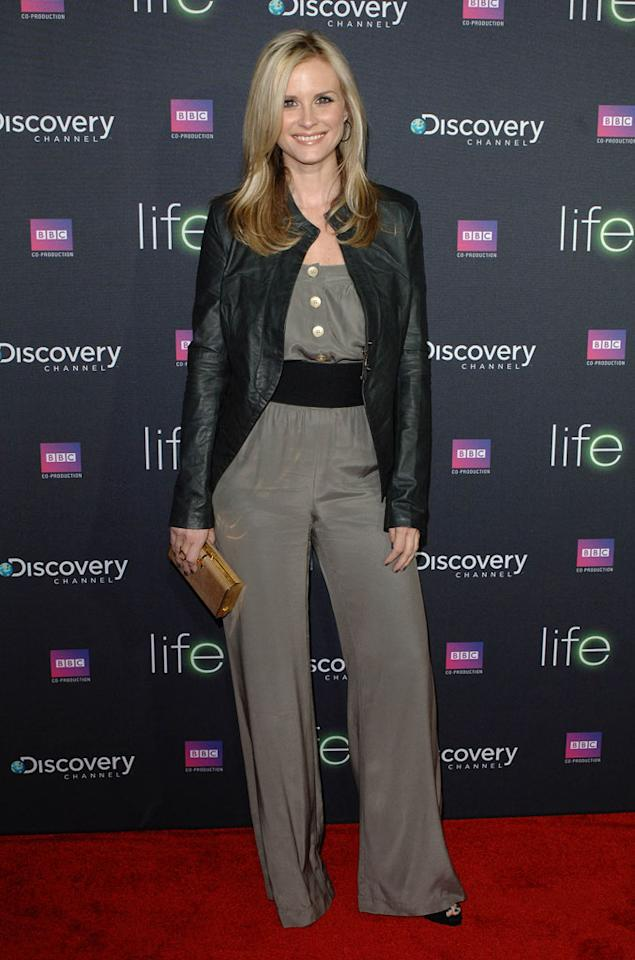 "<a href=""/bonnie-somerville/contributor/963743"">Bonnie Somerville</a> arrives at Discovery Channel's Los Angeles Screening of <a href=""/life/show/44198"">""Life""</a> at the Getty Center on February 25, 2010."