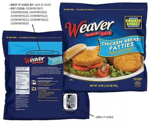 Image of the bag of impacted Weaver product. (Tyson Foods, Inc.)