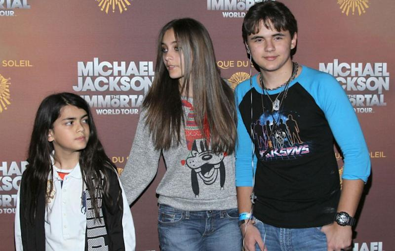 L to R: Siblings Blanket, Paris and Prince pictured in 2012. Source: Getty