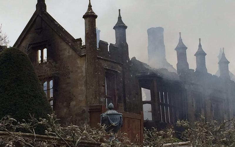 The aftermath of the fire at Parnham House - Credit: @DWFRSCraigBaker