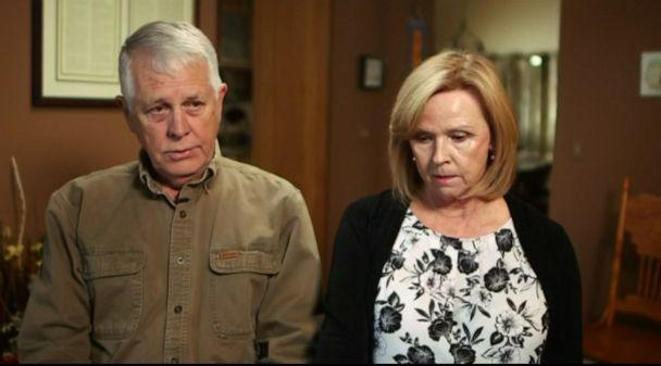 PHOTO: Carl and Marsha Mueller, parents of Kayla Mueller, appear on Good Morning America, Oct. 28, 2019. (ABC News)