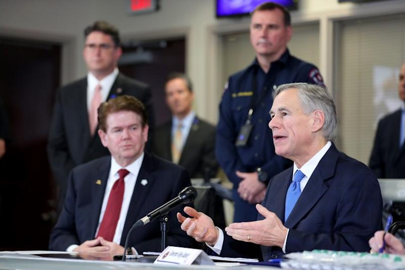 Texas Governor Abbott And Local Officials Hold Press Conference On Coronavirus