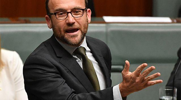 Member for Melbourne Adam Bandt has called on the ALP and the cross bench to back a Greens move to block the pay cuts. Photo: AAP