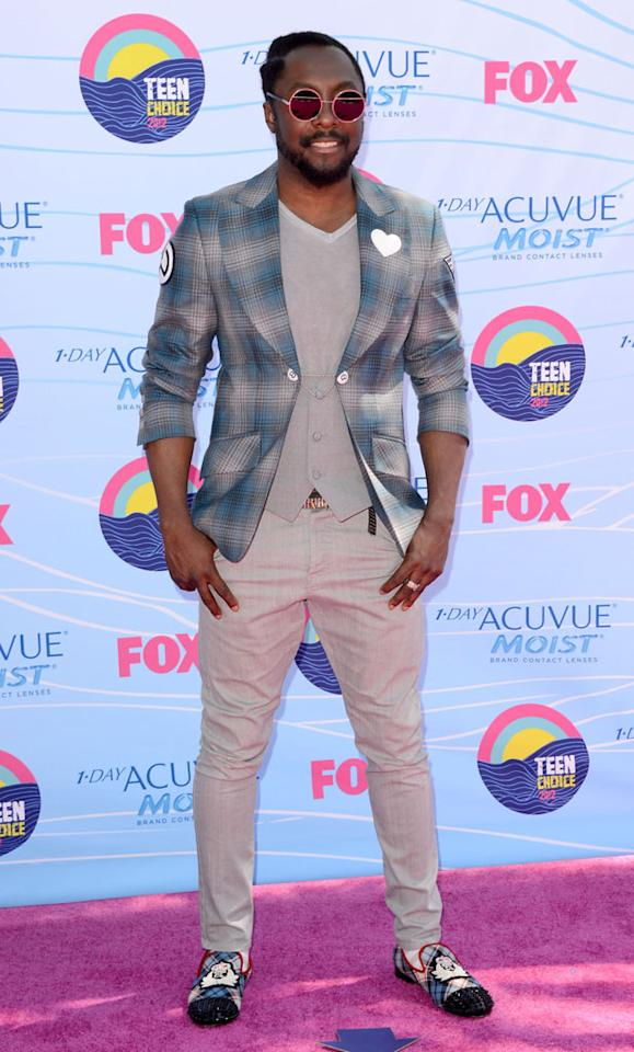 Rapper Will.i.am arrives at the 2012 Teen Choice Awards at Gibson Amphitheatre on July 22, 2012 in Universal City, California.