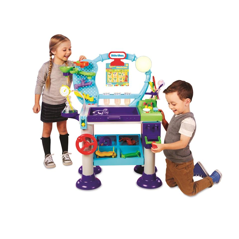 <p>Your budding scientist will spend all their time at this <span>Little Tikes STEM Jr. Wonder Lab Toy With Experiments For Kids</span> ($132) station.</p>