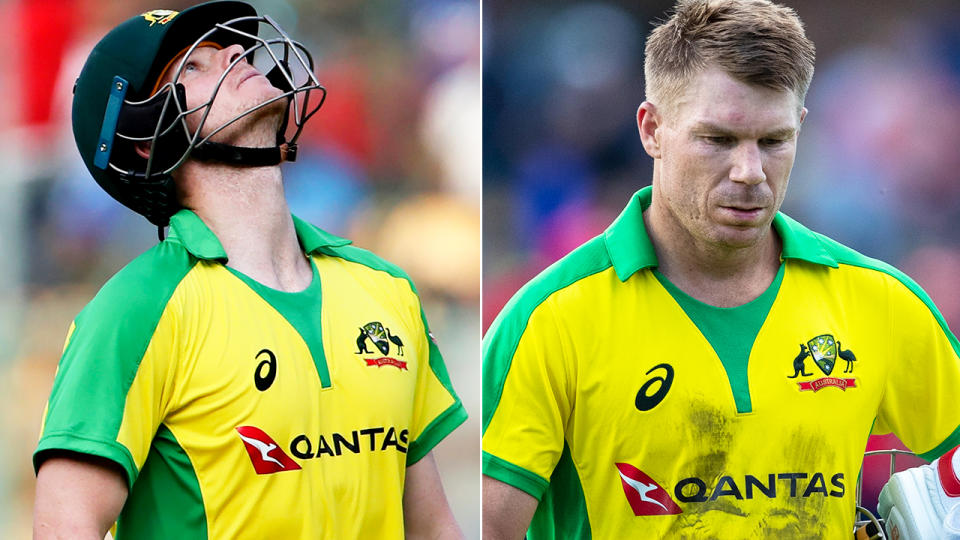 Steve Smith and David Warner, pictured here in action against South Africa in the second T20.