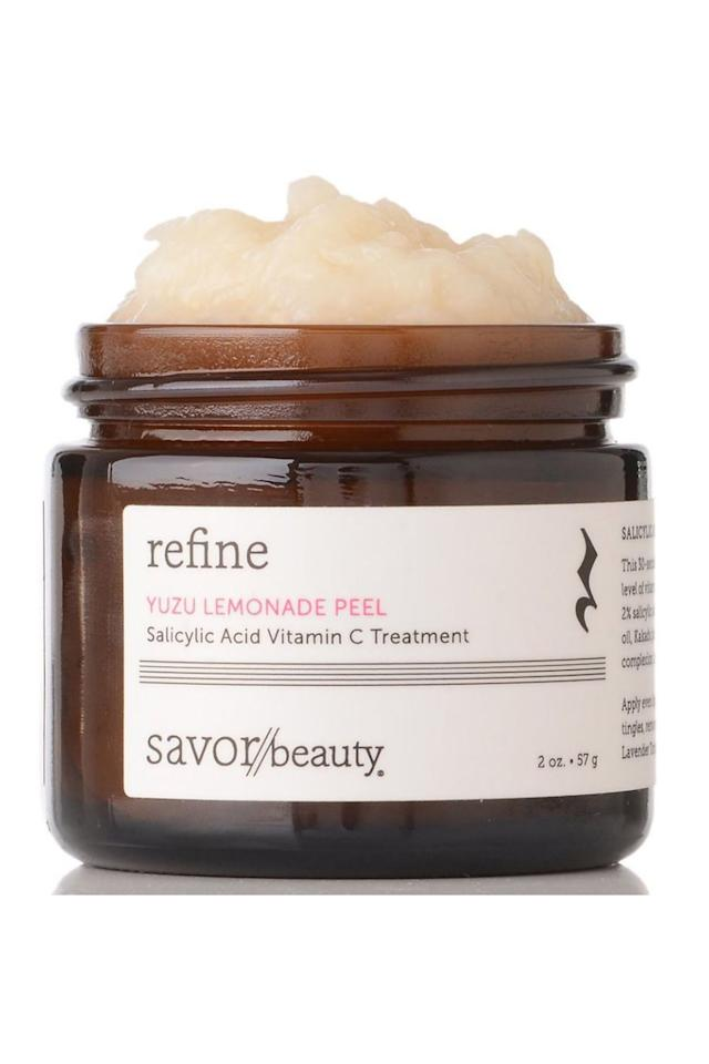 "<p><strong>Savor Beauty</strong></p><p>savorbeauty.com</p><p><strong>$80.00</strong></p><p><a href=""https://www.savorbeauty.com/products/yuzu-lemonade-peel"" target=""_blank"">Shop Now</a></p><p>This 30-second beta-hydroxy-acid (BHA) peel contains a high level of vitamin C to exfoliate for skin clarity. ""Salicylic acid, yuzu oil, Kakadu plum, and lycopene extracts unclog pores, brighten complexion, and revitalize skin,"" adds Dr. Sobel. He also notes that it's ideal for those with oily skin who want quick exfoliation with an all-natural enzyme peel.</p>"