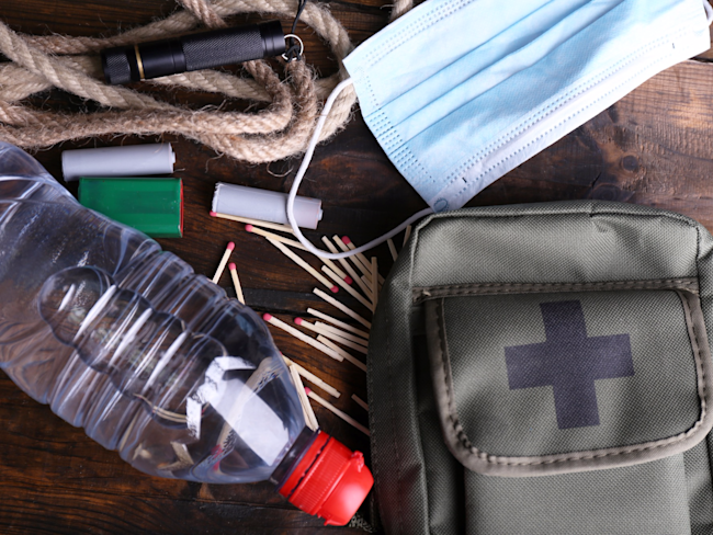 emergency preparedness supply kit shutterstock_222250729