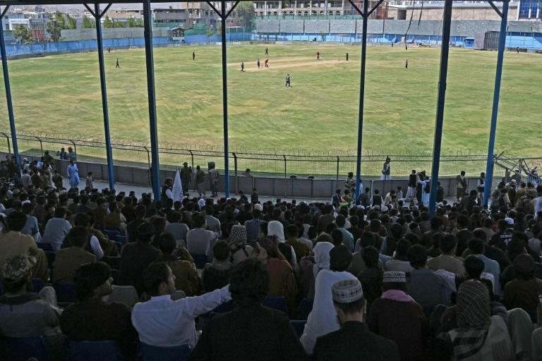 Hardline Islamists have shown they do not mind men playing cricket in Afghanistan, pulling together a match in the capital Kabul shortly after foreign forces withdrew (AFP/Aamir QURESHI)