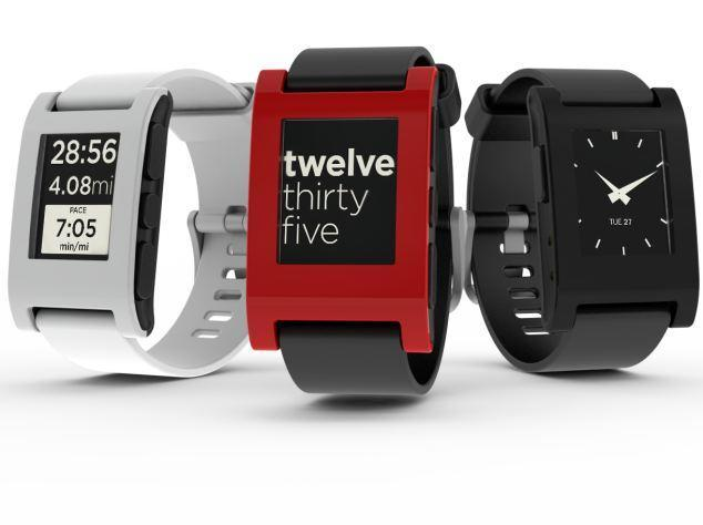 "<p>The future is already here if you're not picky about having an Apple-branded watch. The Pebble started off as a Kickstarter project in 2012, and has become a highly in-demand device that syncs with a variety of iOS and Android devices.</p> <p>For more information on Pebble, visit: <a href=""http://getpebble.com/"" rel=""nofollow noopener"" target=""_blank"" data-ylk=""slk:http://getpebble.com/"" class=""link rapid-noclick-resp"">http://getpebble.com/</a></p>"