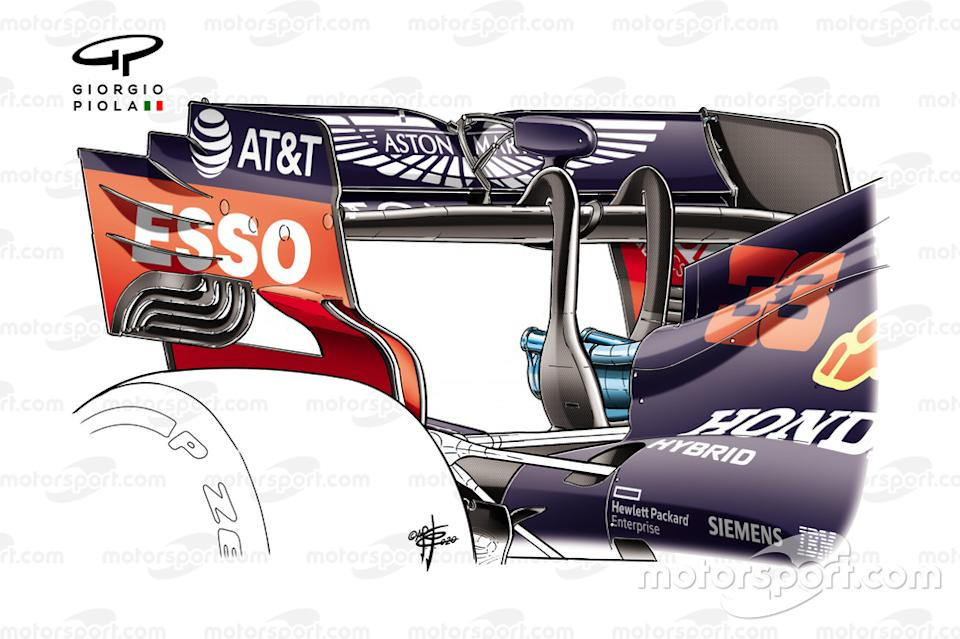 Red Bull Racing RB16 rear wing endplate