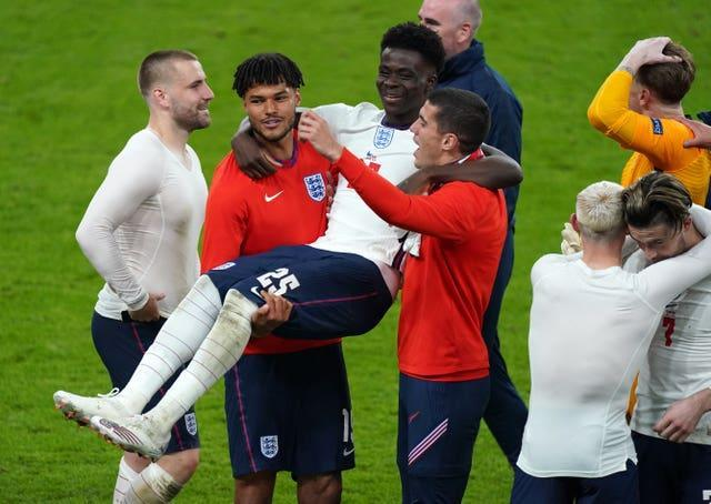 England celebrate after the final whistle
