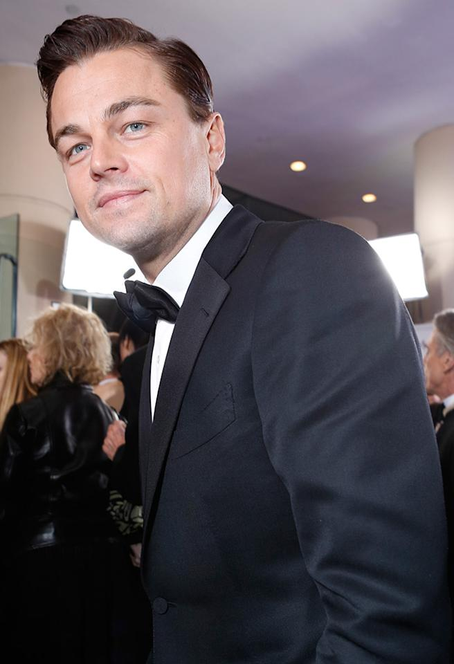 BEVERLY HILLS, CA - JANUARY 13:  Actor Leonardo DiCaprio arrives at the 70th Annual Golden Globe Awards held at The Beverly Hilton Hotel on January 13, 2013 in Beverly Hills, California.  (Photo by Alexandra Wyman/Getty Images for smartwater)
