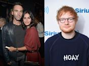 """<p>It's not clear how Courteney and Ed became friends, but when he was writing his 2014 album X, she let him stay at her Malibu beach house for free. He told <a href=""""http://www.independent.ie/woman/celeb-news/unlikely-bffs-ed-sheeran-makes-himself-at-home-in-courteney-coxs-malibu-pad-30120257.html"""" rel=""""nofollow noopener"""" target=""""_blank"""" data-ylk=""""slk:The Sun,"""" class=""""link rapid-noclick-resp"""">The Sun,</a> """"There was no rent but I <span class=""""redactor-unlink"""">made the bed and cups of tea</span> and things like that.""""</p><p>While he was there, his friend Snow Patrol's Johnny McDaid came over to help with the album, and things escalated from there.</p><p>""""We are certainly grateful to Ed for introducing us"""", Courteney told <a href=""""https://www.thesun.co.uk/archives/bizarre/247759/ed-aisle-be-there-for-you/"""" rel=""""nofollow noopener"""" target=""""_blank"""" data-ylk=""""slk:The Sun"""" class=""""link rapid-noclick-resp"""">The Sun</a>. """"I can't imagine him not playing something at the <span class=""""redactor-unlink"""">wedding</span>. It'll be a musical night."""" <br></p><p>Unfortunately, the pair, who got engaged after six months of dating, called off their wedding in December 2015, but rekindled things a few months later.</p>"""