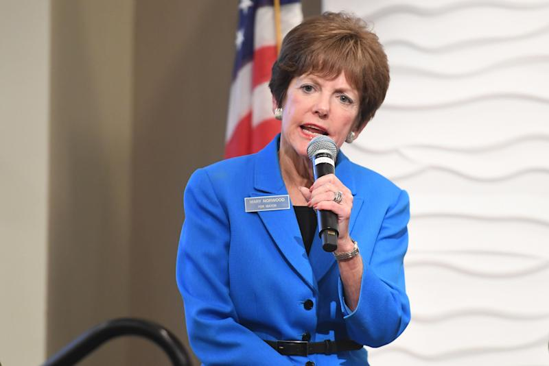 City Councilwoman Mary Norwood speaks at an Atlanta mayoral forum on Sep. 5, 2017. If elected, Norwood would be the city's first white mayor since 1973.