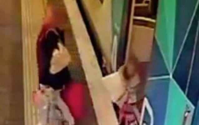 The girl was walking right behind her mother when she fell. Source: 7 News.