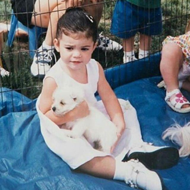 """<p>We know she's an animal lover thanks to her greyhounds Norman and Bambi, but Kylie Jenner has loved pups since she was a little one.</p><p><a href=""""https://www.instagram.com/p/BYyv-P1hVRO/"""" rel=""""nofollow noopener"""" target=""""_blank"""" data-ylk=""""slk:See the original post on Instagram"""" class=""""link rapid-noclick-resp"""">See the original post on Instagram</a></p>"""