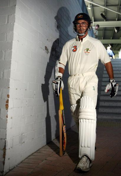 PERTH, AUSTRALIA - DECEMBER 15: Justin Langer of Australia makes his way out to bat at the start of Australia's second innings during day two of the third Ashes Test Match between Australia and England at the WACA on December 15, 2006 in Perth, Australia. (Photo by Paul Kane/Getty Images)