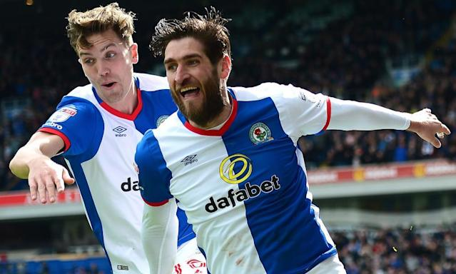 "<span class=""element-image__caption"">Joy for Danny Graham and Blackburn against Villa.</span> <span class=""element-image__credit"">Photograph: Richard Martin-Roberts - AMA/Getty Images</span>"