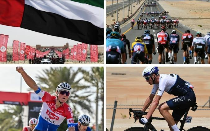 Action from stage one at the UAE Tour - GETTY IMAGES