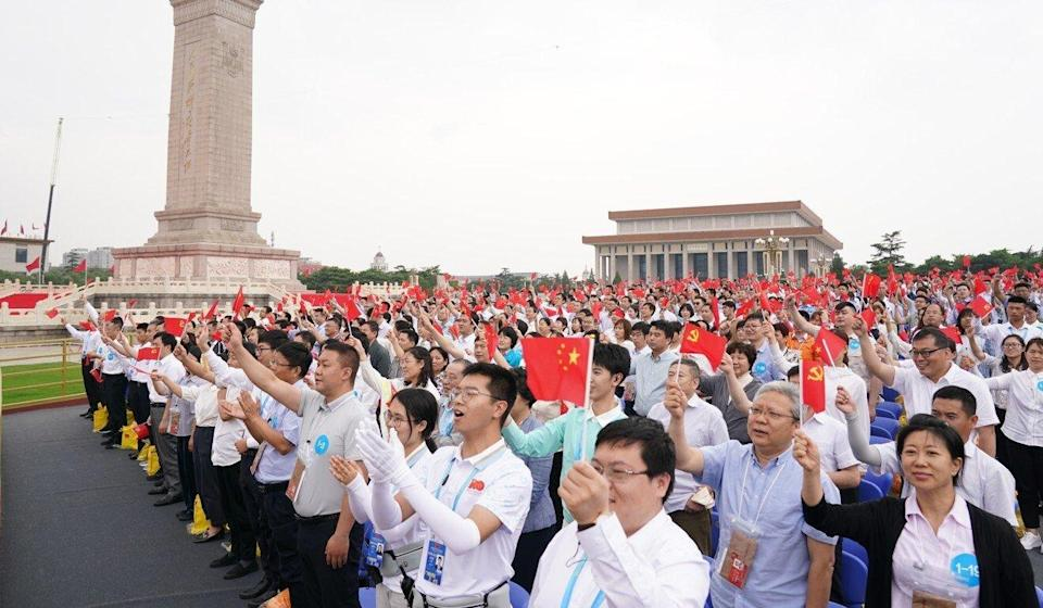 Almost no one was seen wearing masks. Photo: Xinhua