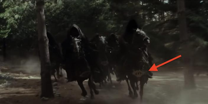 """The Nazgûl chasing Arwen and Frodo in """"The Fellowship of the Ring."""" <p class=""""copyright"""">New Line Cinema</p>"""