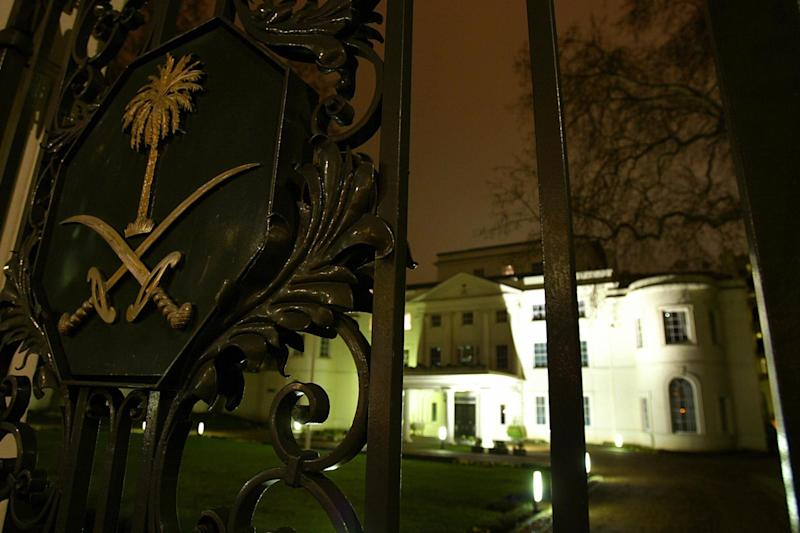 The Saudi Arabian embassy in London: AFP/Getty Images