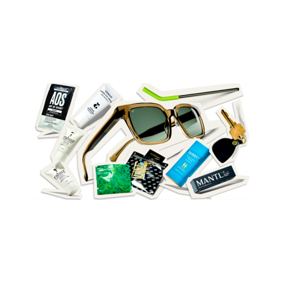 """<p>The best gifts come already curated and <em>GQ</em>'s Best Stuff Box packed with a mix of really great goodies for your grad. The Summer 2021 edition is made for fun in the sun. The box features a pair of Raen West Sunglasses that are right on time as we start to head back outdoors. A tube of Harry's Odor & Sweat Control Deodorant will come in handy as they kick up their activity level on hot summer days. Mantl Face + Scalp No-Shine Sheets will help keep excess oil in check, and recipients will either get the Verso Super Eye Serum <em>or</em> Context Vitamin C All Day Eye Cream. </p> <p>You can <a href=""""https://beststuffbox.gq.com/?source=GQP_NAT_LP_REDIRECT#offers"""" rel=""""nofollow noopener"""" target=""""_blank"""" data-ylk=""""slk:preview all nine products"""" class=""""link rapid-noclick-resp"""">preview all nine products</a> that come in the box or let the person on the receiving end be totally surprised. And at a value of $230-plus, this collection is an amazing deal for any gifter. </p>"""
