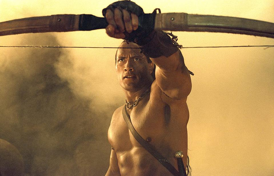 Dwayne Johnson as The Scorpion King in the 2002 action fantasy (Image by Universal Pictures)