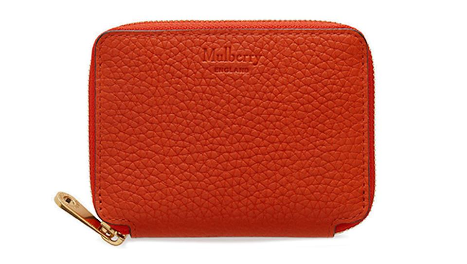 Mulberry Heavy Grain Leather Small Zip-Around Purse