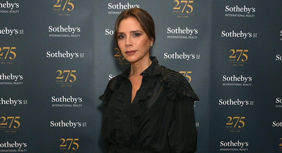 Victoria Beckham showcased a look from her new Spring/ Summer 2021 collection. (Getty Images)