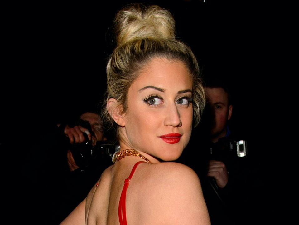 Katie Waissel attends the Universal music afterparty for The BRIT Awards 2014 (Getty Images)
