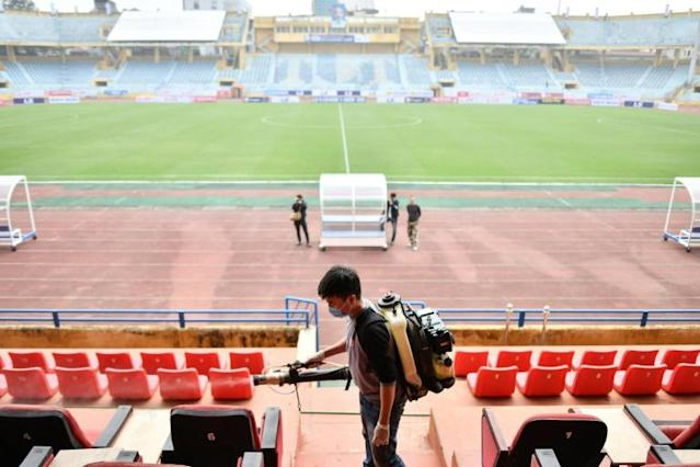 The Chinese Super League has been suspended indefinitely (AFP Photo/Manan VATSYAYANA)