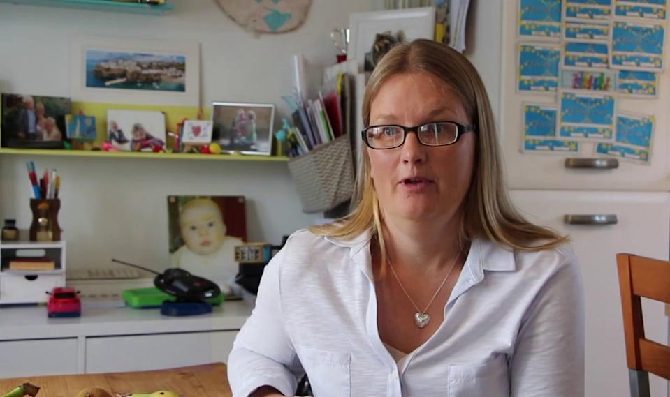 Janine Riley said her son Henry went from being an active child who was 'fit and healthy' to struggling to breathe or walk (SWNS/PUBLIC HEALTH ENGLAND)