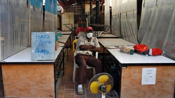 A closed stall in Havana